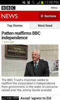 BBC mobile Site