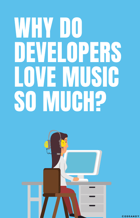developer listening music to block out sound and noise
